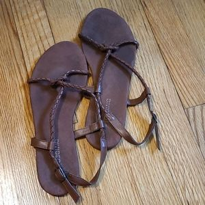 H&M brown strappy sandals